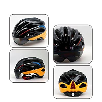 Adults Bicycle Cycle Helmet for Men Ladies Women Ultralight Integrally Molded Adjustable One Size 57-62CM Weight 330g from HJMTRY