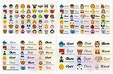 Kigima 114 Aufkleber Sticker Namens-Etiketten rechteckig Oliver Verschiedene Größen und Tiermotive