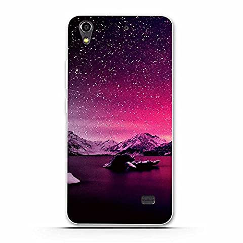 Coque Huawei Ascend G620S, Fubaoda Belle Aurora Nuit série Étui TPU silicone élégant et sobre pour Huawei Ascend G620S (G621 Honor Play 4)