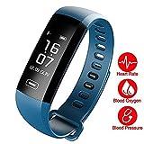 TEZER Unisex Digital Uhr Fitness Tracker mit Schrittzähler Kalorienzähler Silikonband R5