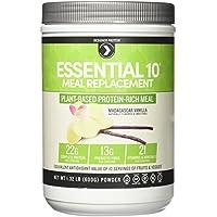 Designer Protein Essential 10 Meal Plant-Based Supplement, Madagascar Vanilla, 1.19