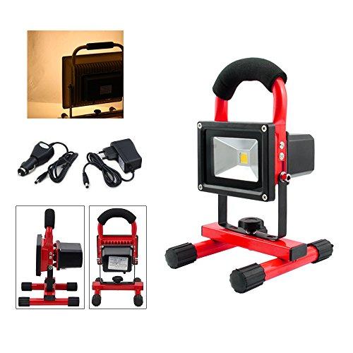 vingo® Projecteur LED Portable Adaptateur Projecteur Rechargeable Chargeur de Voiture inclus Garage Camping