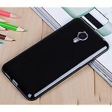 Prevoa ® 丨 MEIZU M1 NOTE Funda - Silicona TPU Funda Cover Case para MEIZU M1 NOTE 5.5 Pulgadas Smartphone - NEGRO