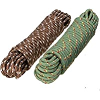 Bajrang Clothes Nylon Braided Cotton Rope (20 M, Multicolour) - Pack of 2 Pieces