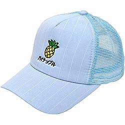 Roffatide Niñas Niños Piña Bordado Gorra de Béisbol Verano Azul