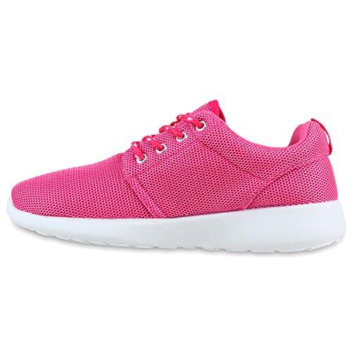 Damen Sportschuhe Muster |Laufschuhe Runners | Sneakers Schuhe Strass Metallic Pink Camargo