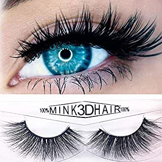Anglewolf 3D Fake Eyelashes Natural Thick False Eye Lashes Makeup Extension (A,1cm-1.5cm)