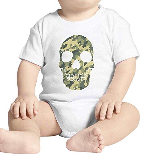 Body Neonato Fashion Teschio Skull Militare Camouflage