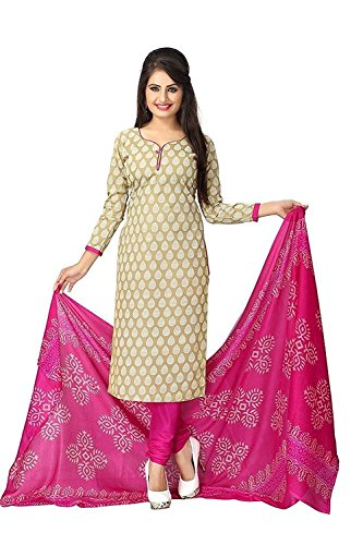Lady Loop Women's Clothing Dress Material Designer Party Wear Today Offers Low Price Sale buy online Top Blue Color Cotton Fabric Free Size Salwar Suit Dupatta  available at amazon for Rs.199