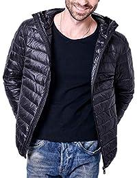 3bc5d9768956 Herren Leichte Daunenjacke Puffer Stopfbar Winter Kapuze Mit Jacke Langarm  Mit Mode Marken Zipper Outerwear Mantel