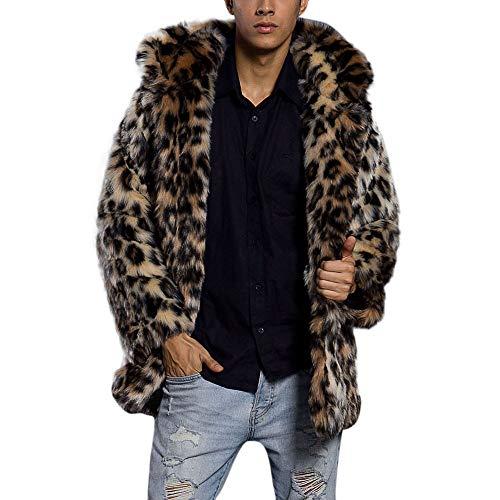 Elecenty cappotto invernali uomo giaccone caldo giacca di pelliccia ecologica giacche (2xl, multicolore)