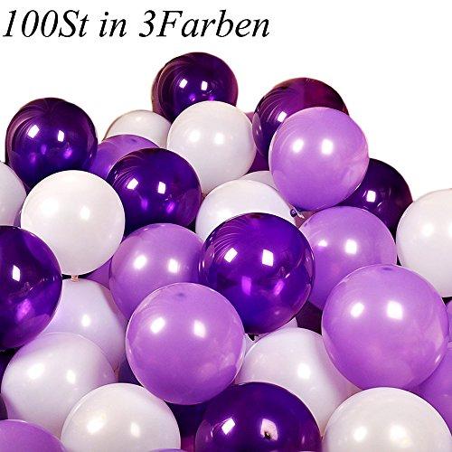 our fantasy time 100er Set romantische Luftballon in DREI Farben, ideal als Deko zur Hochzeit, zum Valentinstag oder zum Antrag, Deko für Geburtstag Party, (SET002) (3. Antrag)