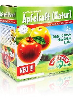 Walthers Apfelsaft Direktsaft natur, 2er Pack (2 x 3 l Saftbox)