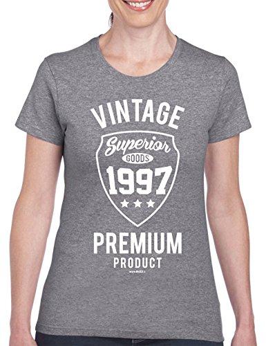 Geschenk zum 21. Geburtstag Frau - Vintage Premium 1997 T-Shirt - 21. Geburtstag Geschenk für Frauen