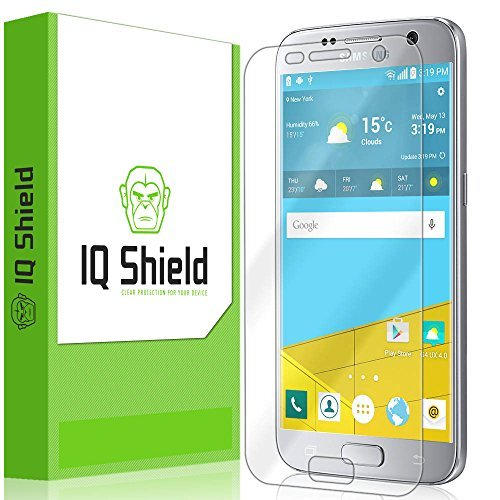 Iqshield Liquidskin – Samsung Galaxy S7 Screen Protector – Hd Ultra Clear Film – Protective Guard – Extremely Smooth / Self-Healing / Bubble-Free Shield