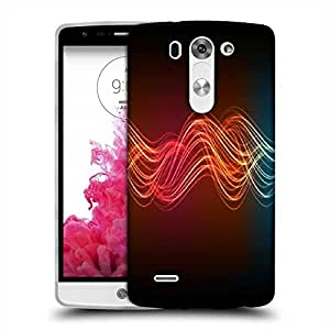 Snoogg Neon Lines Designer Protective Phone Back Case Cover For LG G3 BEAT