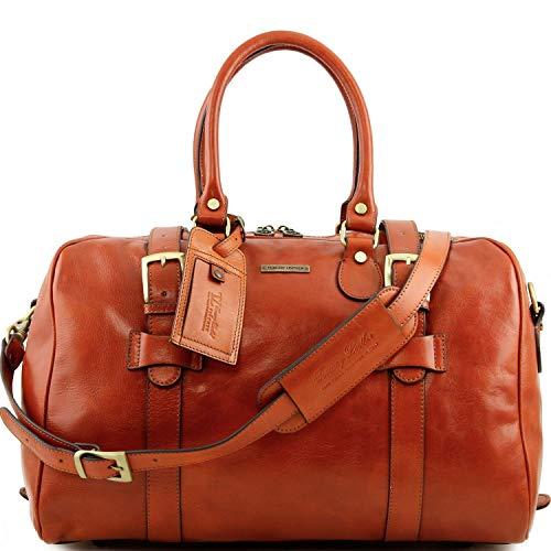 Tuscany Leather TL Voyager Sac de voyage en cuir avec boucles - Petit modèle Miel