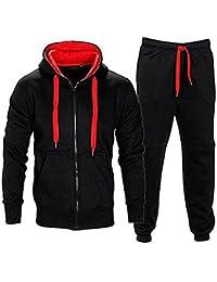 Juicy Trendz Hommes Athletic Long Selves Polaire Zip Complet Gant de  survêtement Jogging Set Vêtements Actifs 7541628617ed