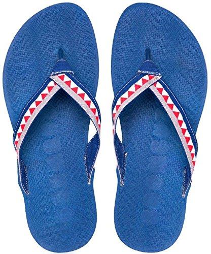 Boombuz 100% nature, 100% VEGAN, TAIGA HALF DRESSED Flip Sandals Flops Zehentrenner Zehenspreitzer Jeans / Jeans-Grey