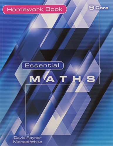Essential Maths 9 Core Homework Book por Tom Jones