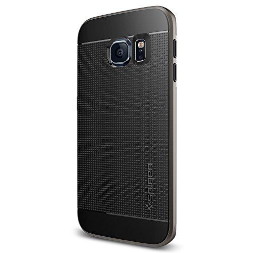 Samsung Galaxy S6 Edge Hülle, Spigen [Neo Hybrid] Dual-Layer Schutzrahmen [Gunmetal] TPU Schale + PC Farbenrahmen / 2-teilige Premium Handyhülle / Schutzhülle für Samsung S6 Edge Case, Samsung S6 Edge Cover, Galaxy S6 Edge Case, Galaxy S6 Edge Cover - Gunmetal (SGP11422)