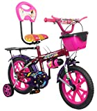 #8: Loop Cycles SKOOLMATE Cherry Purple 14 Inches Bicycle For 3 to 5 Years Kids Unisex With Bottle