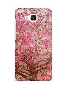 Amez designer printed 3d premium high quality back case cover for Xiaomi Redmi 2 Prime (Flower spring art illust happy)