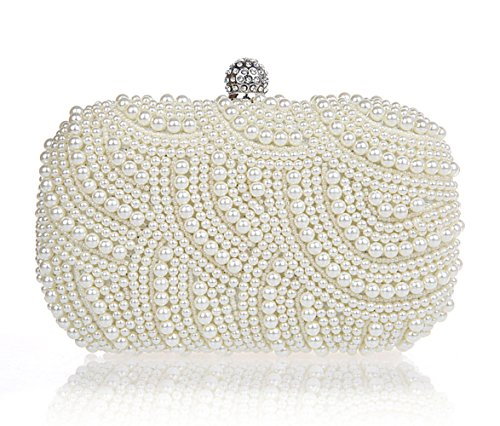 HIDOUYAL, Poschette giorno donna beige champagne bianco