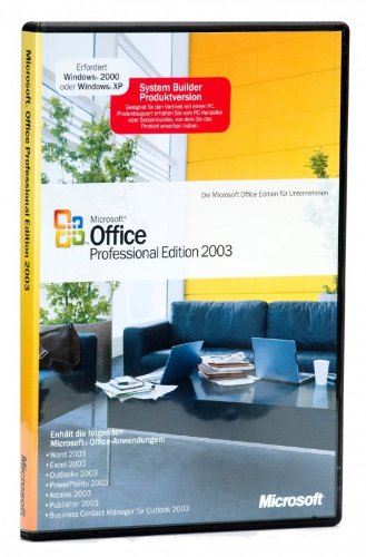 SB/MS OfficePro 2003+SP2 CD W32 1pk, incl. Word, Excel, Outlook, PowerPoint, Publisher, Access