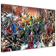 Art Mural sur toile Pop Art Images Justice League Saga Poster DC Comics Chambre Décoration x