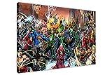 Pop Art mural sur toile Justice League Saga DC Comics Décoration de Salle Poster, Agrafes Toile Bois dense, 09- A0 - 40' X 30' (101CM X 76CM)