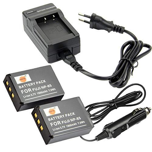 DSTE®(2 Pack)Ersatz Batterie und DC122E Reise Ladegerät Compatible für Fujifilm NP-85 FinePix S1 SL240 SL245 SL260 SL280 SL300 SL305 SL1000 Digital Kamera