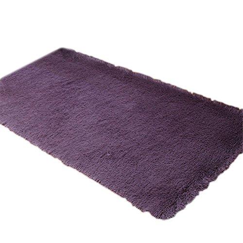 Scrox Plus épais Rond Tapis Fitness Yoga Panier Ordinateur Coussins Chambre à Coucher Salon Lovely Tapis de Chevet Cheveux Courts,Violet Gris, 40cm*40cm (Violet Gris)