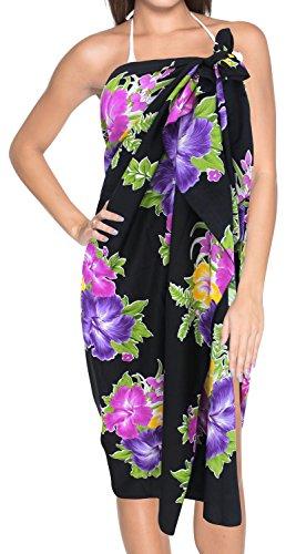 Blumen Frauen Bademode Bikini bedecken Badeanzug Wrap Badebekleidung Rock Sarong up Lebendige Violett