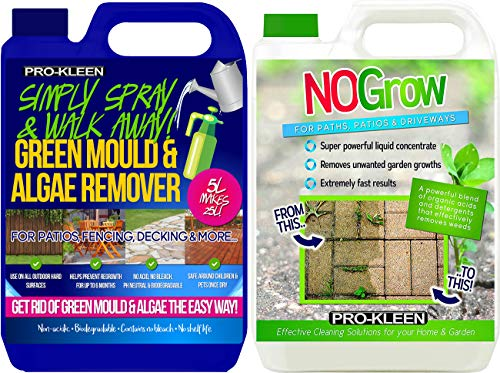 5 Litres NOGrow Weed & Moss Remover Concentrate Liquid Killer Non Glyphosate Formula