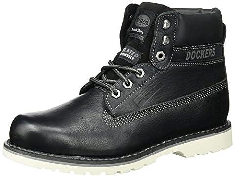 Dockers by Gerli Herren 33CR001-140100 Combat Boots, Schwarz (Schwarz 100),