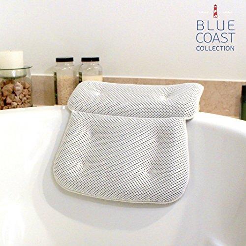 Rousset Luxus Badewannenkissen für Badewanne und Whirlpool! Premium Wellness Kissen für Komfort mit weichen Fasern & großen Saugnäpfen, leicht zu reinigen & geruchsresistentes Kissen für Jacuzzi mit Mesh-Technologie für schnelles & leichtes trocknen.