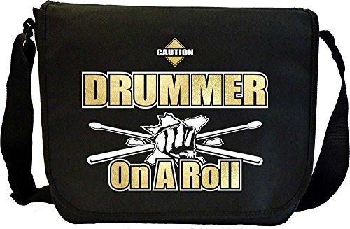Drum Fist Sticks Drummer On Roll - Musik Noten Tasche Sheet Music Document Bag MusicaliTee