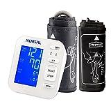 NURSAL Modernisiertes Blutdruckmessgerät für den Oberarm samt großem digitalen Monitor