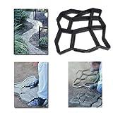 Hengda® 4x Betonform Pflasterform Schalungsform Gießform Plastikformen für Beton Garten Gehwegen Trittsteinen DIY Natursteinpflaster Pflastersteine Terrassenplatten
