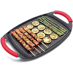 Lacor 25547 - Plancha/grill de aluminio fundido, 37 cm