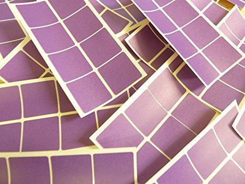 26mm (1 Pulgadas) Cuadrado Púrpura Oscuro Violeta Código De Color Adhesivos, 96 auta-Adhesivo Cuadrados adhesivo Etiquetas De Colores
