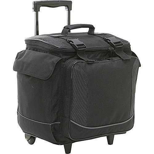 bellino-bottle-limo-12-insulated-wine-tote-case-wheel-travel-cooler-with-organizer-black-by-bellino