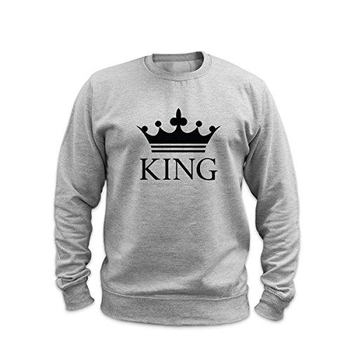 King & Queen-Felpa Heather Grey - King Medium