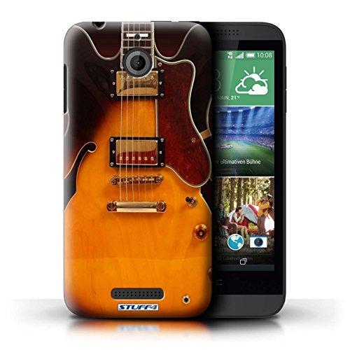 Kobalt® Imprimé Etui / Coque pour HTC Desire 510 / Sunburst Acoustique conception / Série Guitare Electro Acoustique