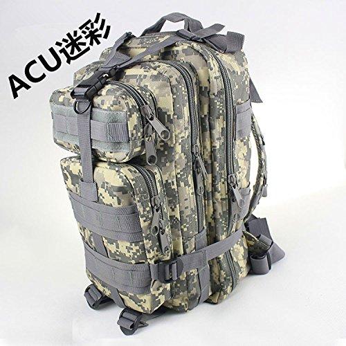 Camouflage Männer outdoor multifunktionale Mountaineering bag Schulter Rucksack Tasche 45 * 25 * 23 cm, ACU-Tarnung ACU Camouflage