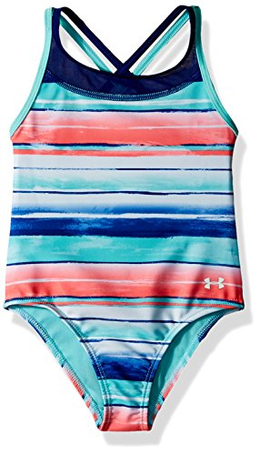 Under Armour Baby Girls One Piece Swimsuit, Tropical Tide, 12M (Baby-mädchen Armour Under)