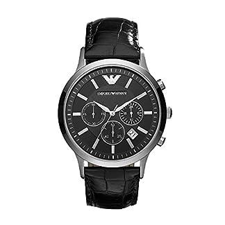 Emporio Armani Renato Analog Black Dial Men's Watch – AR2447