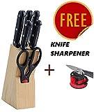 #2: ABbuy Stainless Steel Knife Set (7 PC's)