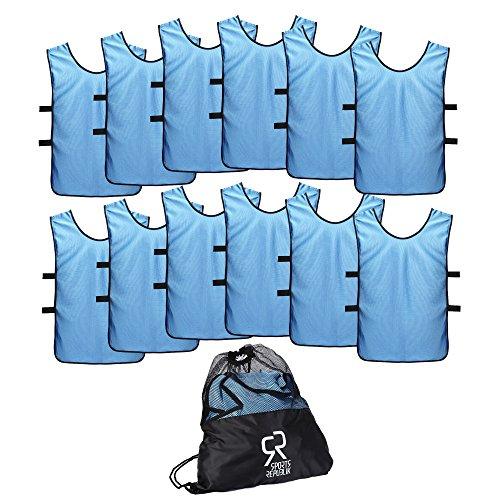 Kinder-spiel-fußball-trikot (Sport Trikot Leibchen (12er Pack) - Fußball Trainingsleibchen)